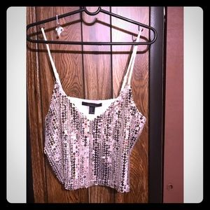 Forever 21 sequin tank top *new, tag on